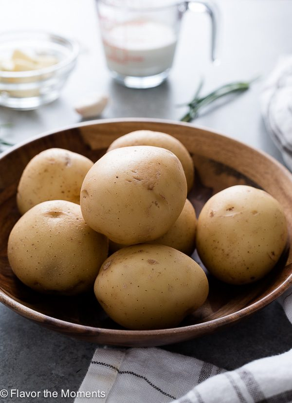 Bowl of yukon gold potatoes