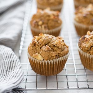 Flourless carrot muffins on wire rack