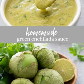 green enchilada sauce collage pin