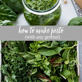How to Make Pesto Sauce with any greens, herbs and nuts