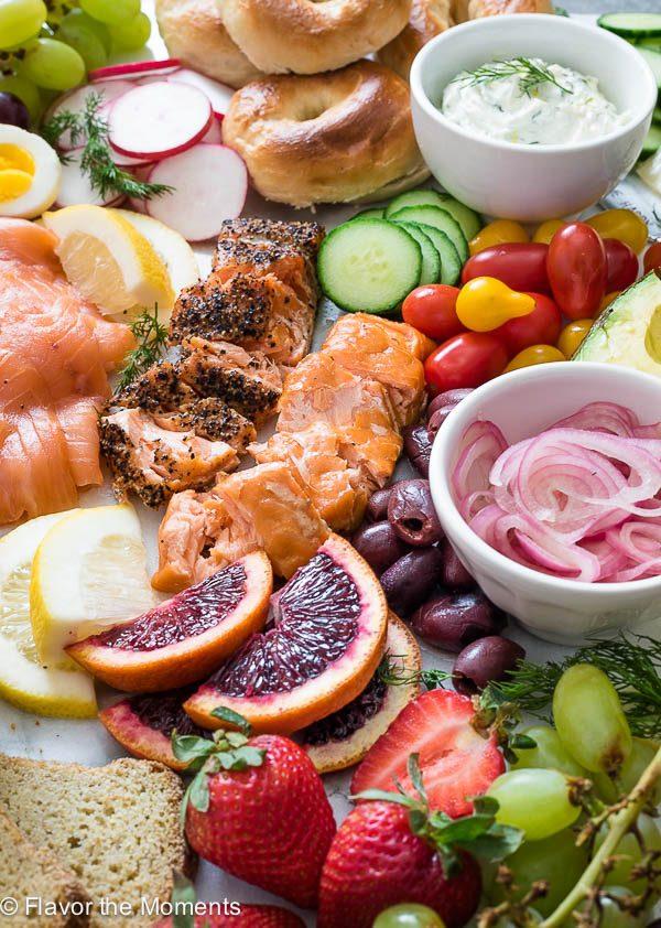 hot smoked salmon close-up