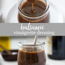 balsamic vinaigrette dressing collage