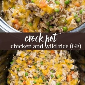crockpot chicken and rice collage