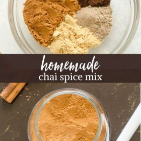 Homemade chai spice collage pin