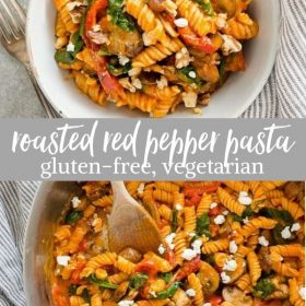 red pepper pasta collage pin