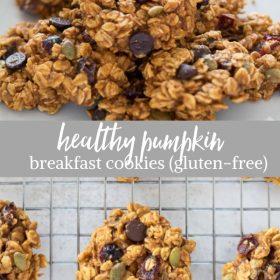 pumpkin breakfast cookies collage