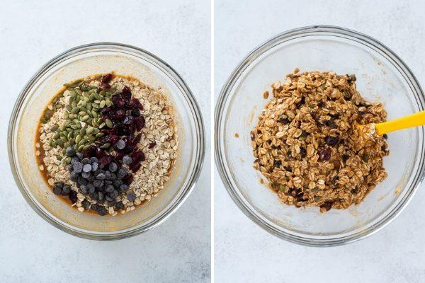 pumpkin breakfast cookies process collage 1