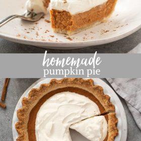 pumpkin pie from scratch collage