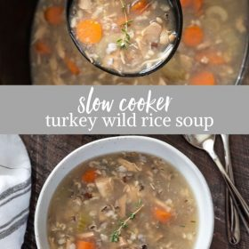 turkey wild rice soup collage