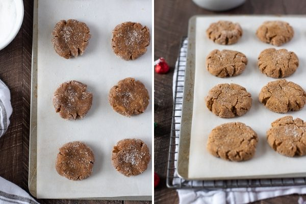 gluten free peanut butter blossoms process collage 2