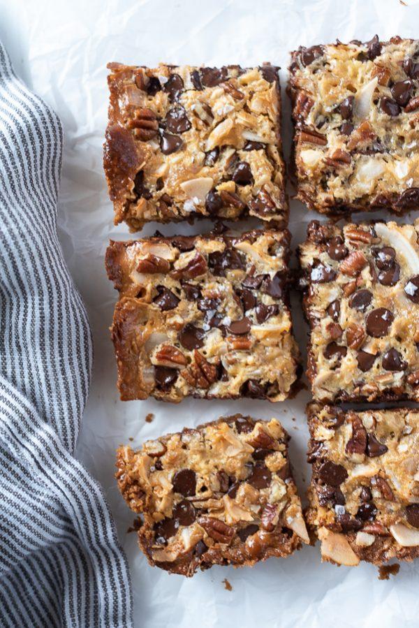 magic cookie bars overhead shot