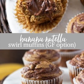 banana nutella muffins collage