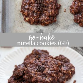no bake nutella cookies collage