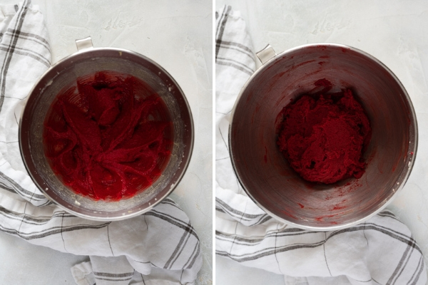 How to make red velvet cookies collage