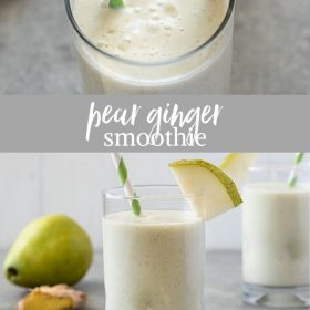 pear smoothie collage