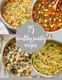 healthy pantry recipes collage