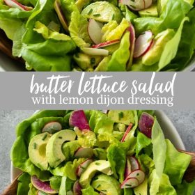 butter lettuce salad collage