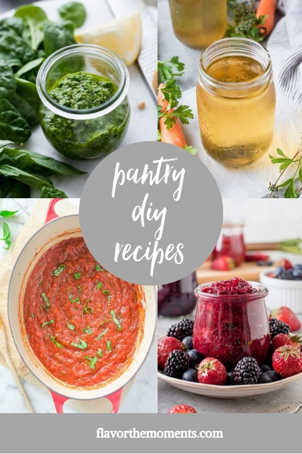 Healthy pantry diy recipes collage