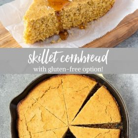 skillet cornbread recipe collage