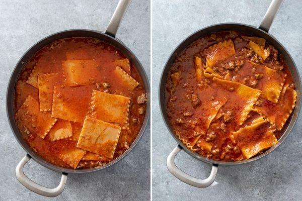 skillet-lasagna-process-collage-2