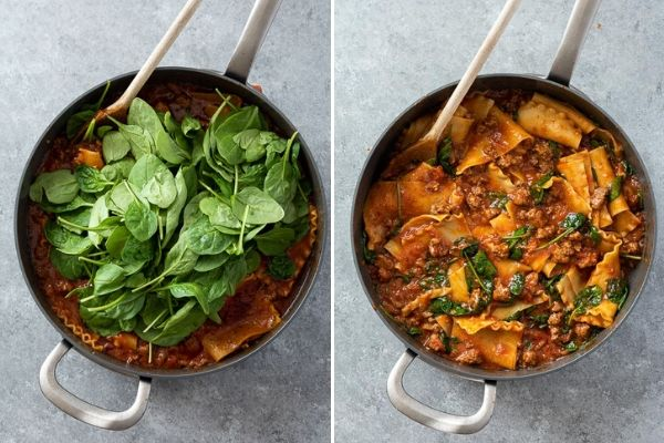 skillet-lasagna-process-collage-3