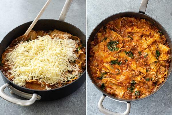 skillet-lasagna-process-collage-4