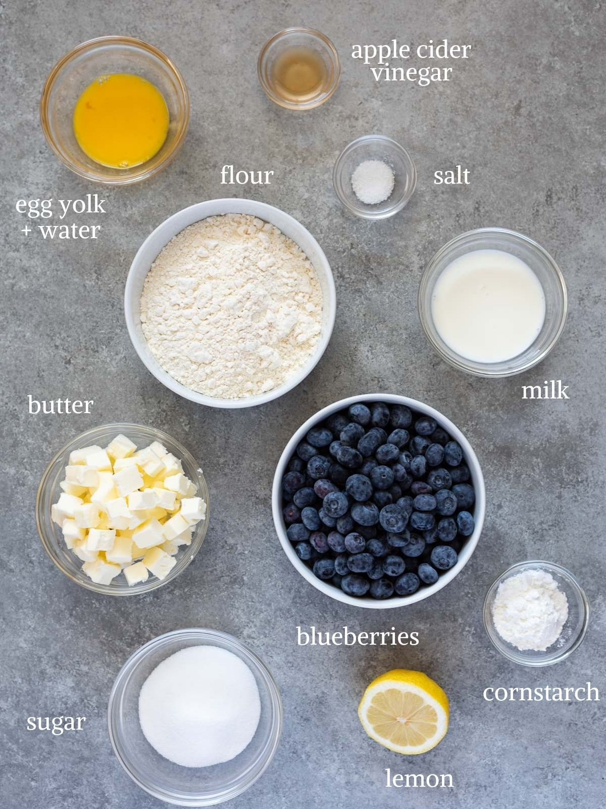 Blueberry galette ingredients