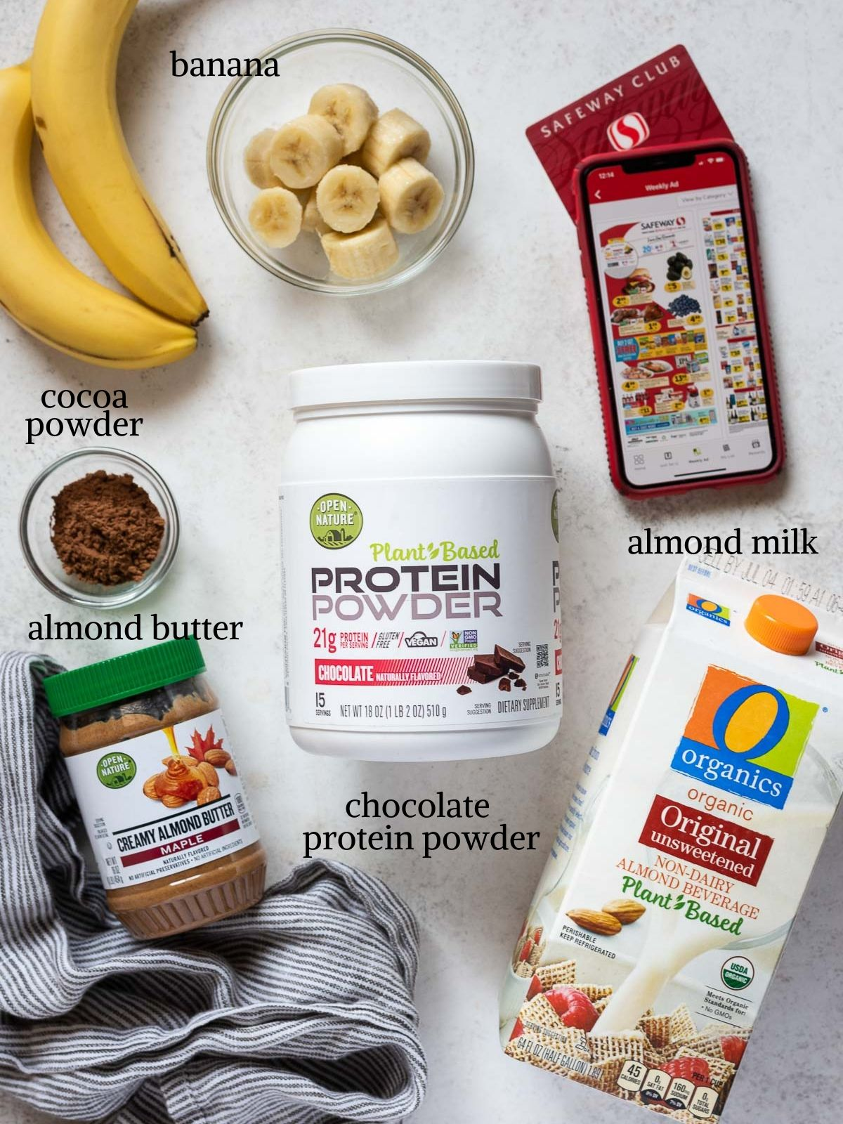 chocolate banana protein smoothie ingredients
