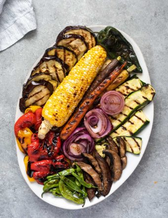 Grilled Portobello Mushroom Asparagus Fajitas {Video}