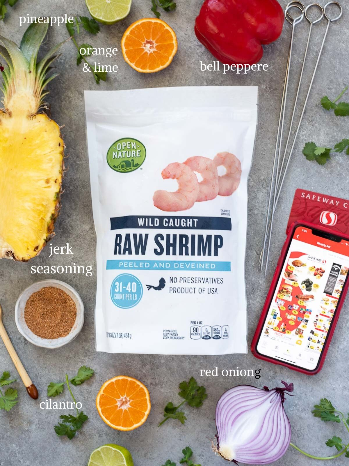 Jerk Pineapple Shrimp Recipe Ingredients