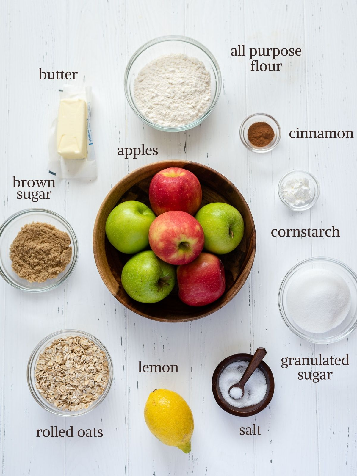 Apple crisp recipe ingredients