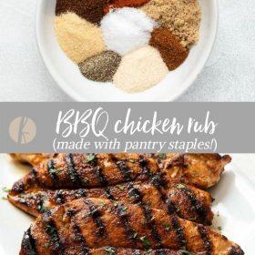 BBQ Chicken Rub collage