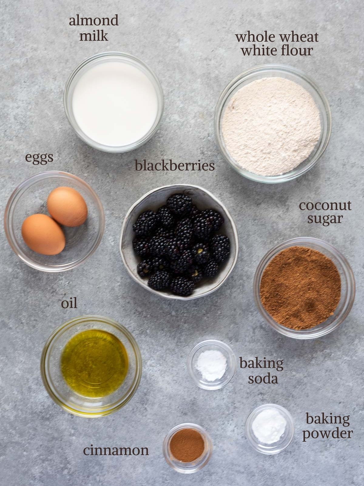 Blackberry muffin recipe ingredients