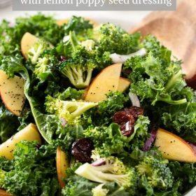 Broccoli and Kale Salad collage