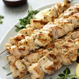 Greek chicken souvlaki pinterest collage