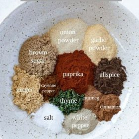 jerk seasoning ingredients collage pin