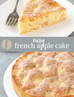 french apple cake collage pin