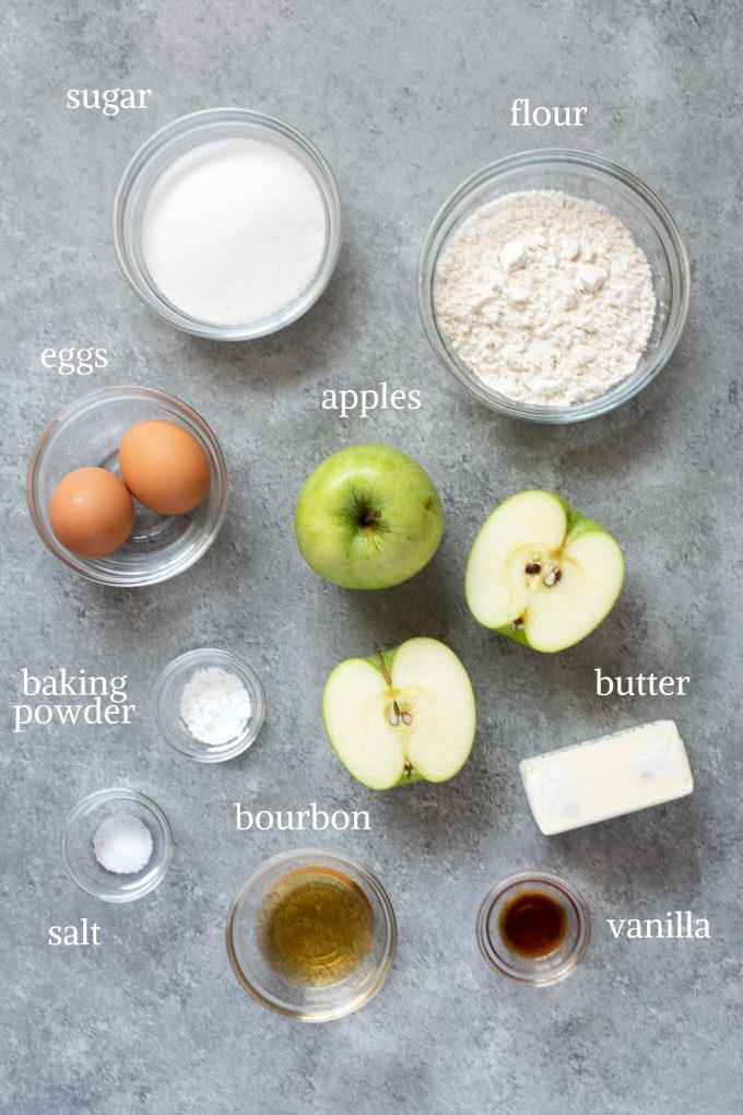 french apple cake recipe ingredients