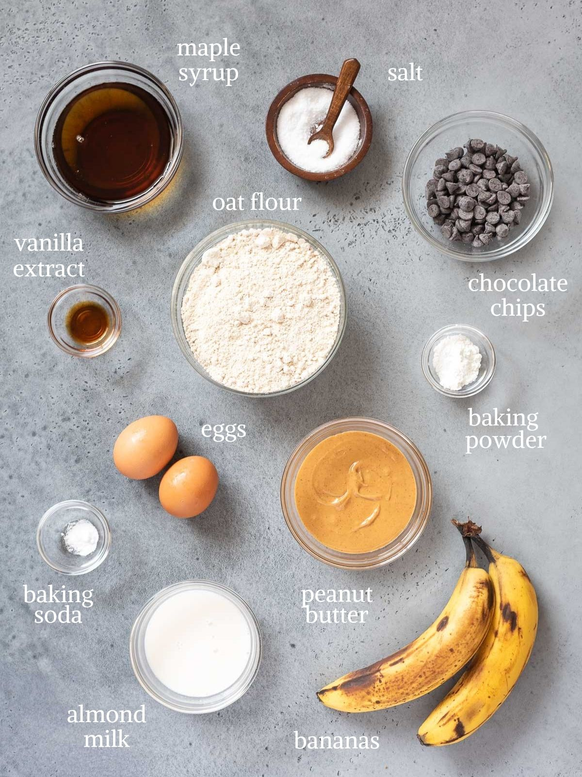 healthy peanut butter banana muffin ingredients