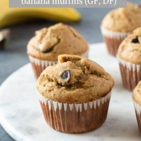healthy peanut butter banana muffins pin 1