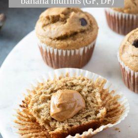 Peanut butter banana muffins pin 2