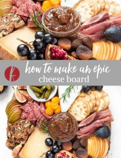 How to make a cheese board collage pin