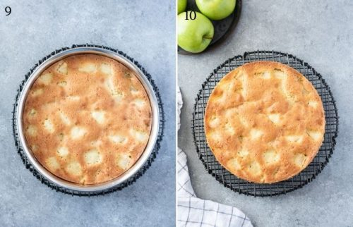 How to make french apple cake process collage 4