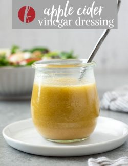 Apple cider vinegar salad dressing pin 1