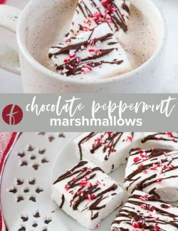 Peppermint marshmallows collage