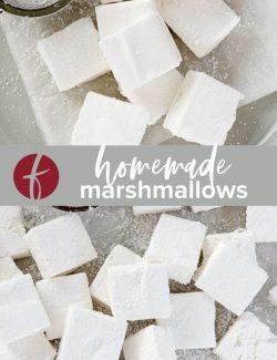 Homemade marshmallows collage pin