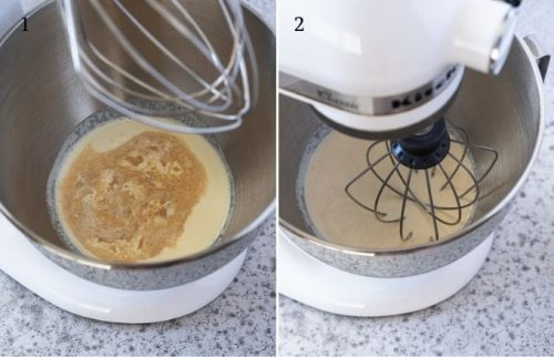How to make homemade whipped cream process collage 1