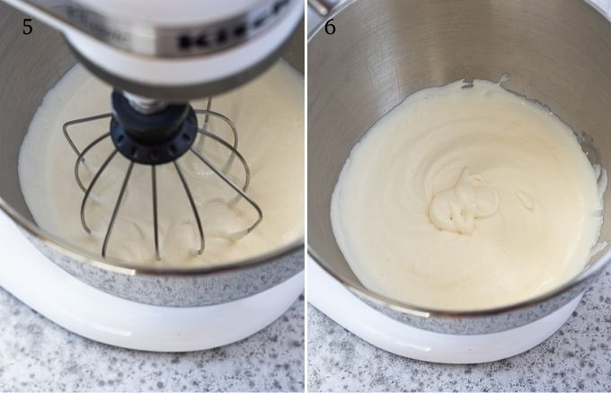 How to make homemade whipped cream process collage 3