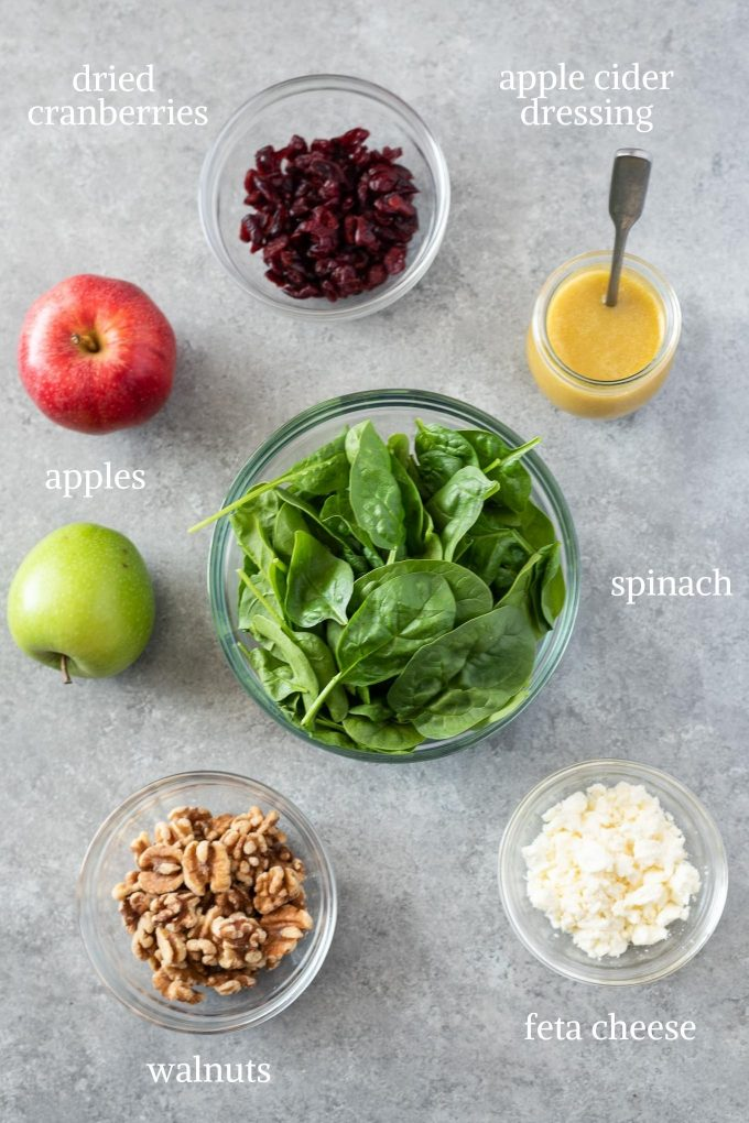 Spinach Apple Salad recipe ingredients