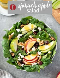 Spinach and Apple Salad pin 1